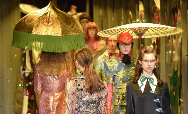 gucci alla milan fashion week