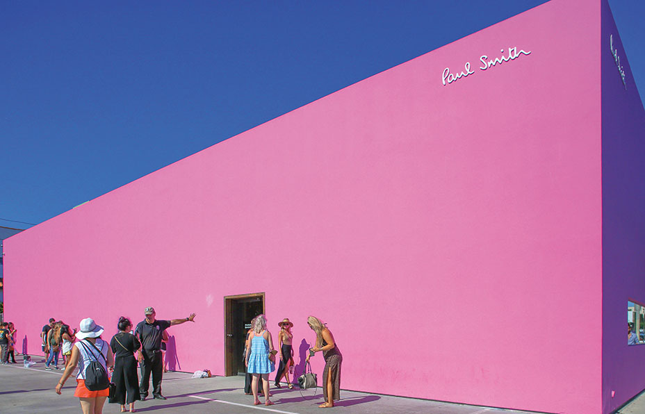 il muro rosa di paul smith